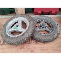 """1696___2 -- 9"""" tires & rims"""