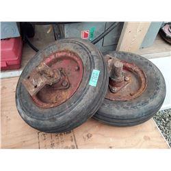 """1702___2 -- 10"""" tires & rims"""