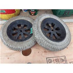 """1703___2 -- 8"""" tires & rims"""