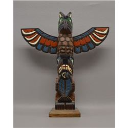 NORTHWEST COAST INDIAN TOTEM POLE (MARLIN ALPHONSE)