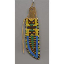 PLAINS INDIAN SHEATH AND ANTIQUE KNIFE