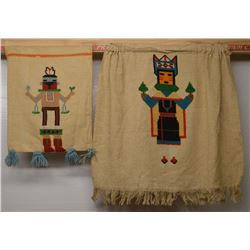 HOPI INDIAN EMBROIDER WALL HANGINGS