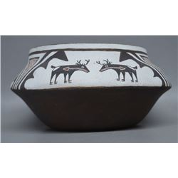 ZUNI INDIAN POTTERY BOWL ( KALESTEWA)