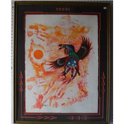 SIOUX INDIAN PAINTING  (CRUZE MCDANIELS)