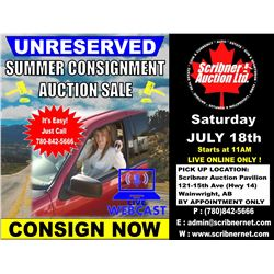 KEEP CHECKING BACK HERE - ITEMS ARRIVING DAILY FOR THE JULY 18th 2020 SUMMER CONSIGNMENT AUCTION