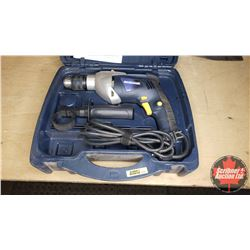 "Mastercraft 1/2"" Hammer Drill w/Case & Assorted Bits"
