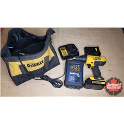 DeWalt 20V Lithium Ion Drill w/Bag, Drill Bits, Extra Battery & Charger