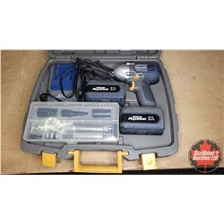 "Mastercraft Maximum 14.4V Cordless Impact (3/8"" Drive) w/Case, Accessories, Extra Battery & Charger"