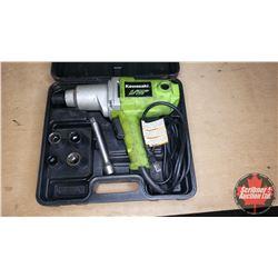 "Kawasaki 1/2"" Drive Electric Impact w/Case & Sockets"