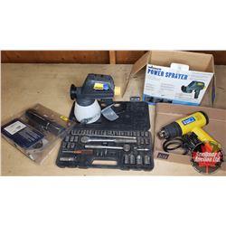 Tool Combo : Power Paint Sprayer, Heat Gun, Timing Light & Socket Set
