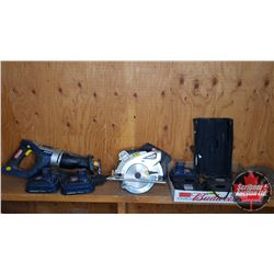 Tool Combo: Mastercraft 18V Reciprocating Saw & Circular Saw w/Extra Blades, Chargers(2) & Batteries