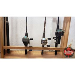 Rod & Reel Combos (4 Rods/3Reels) (NOTE: Stand not included, for display only)