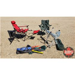 Weekend Fun Camping Combo : Chairs (3), Stool, Ladder Ball & 12V Cooler