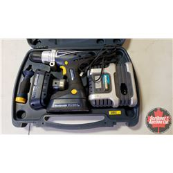 Mastercraft 18V Cordless Drill w/Case, Batteries(2) & Charger