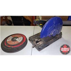 """Power ProCraft 14"""" Cut Off Saw w/Extra Blades"""