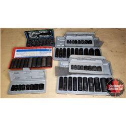 Tray Lot: Variety of Impact Sockets (7)