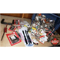 Tote Lot: RC Airplane Parts & Accessories (Tail Fin, Propellers, Engine Mounts, Electric Connectors,