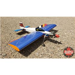 """RC Airplane - Blue & White (Wing Span: 49"""") (Overall Length: 45"""")"""