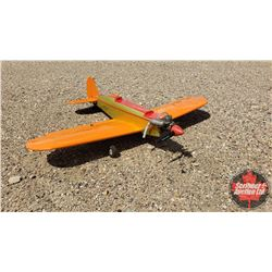 """RC Airplane : Orange & Gold (Wing Span: 44"""") (Overall Length: 39"""")"""