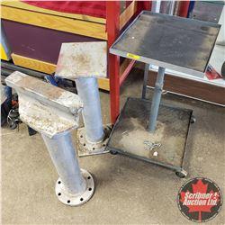 Wheeled Mechanics Tray & Homemade Steel Metal Working Surfaces