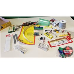 Tray Lot: RC Airplane Parts & Accessories (Propellers, Landing Gear, Controlled Service Deflection M