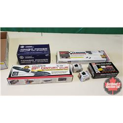 Tray Lot: RC Airplane Parts & Accessories (12v Starter, Deluxe Power Panel, Servos, Precision Air Cr