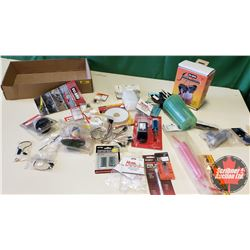 Tray Lot: RC Airplane Parts & Accessories (Propellers, Fillin' Station, Pro Glow Starter Clip, Fuel