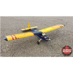 """RC Airplane : Blue & Yellow (Wing Span: 95"""") (Overall Length: 66"""")"""