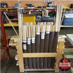 """Large Variety of Balsa Wood w/Stand (Overall Width : 43"""" & Overall Height : 53"""" & Overall Depth : 16"""