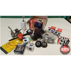 Tray Lot: RC Airplane Parts & Accessories (Engine, Servos, Battery Chargers, Batteries, etc)