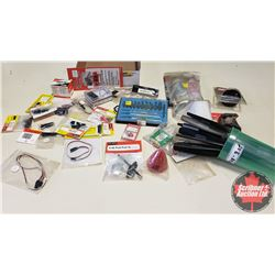 Tray Lot: RC Airplane Parts & Accessories (Propellers, Spinners, Knives, Epoxy, etc)