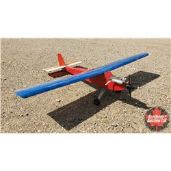 """RC Airplane : Red & Blue (Wing Span: 74"""") (Overall Length: 57"""")"""