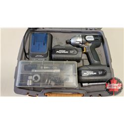 "Mastercraft Maximum 18V Cordless Impact (1/2"" Drive) w/Case, Batteries (2), Sockets & Charger"