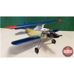 """RC Airplane : Gold & Blue Bi-Plane (Wing Span: 36"""") (Overall Length: 36"""")"""