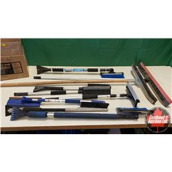 Box Lot: Squeegees & Snow Brushes