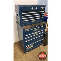"Mastercraft 9 Drawer Rolling Tool Cabinet - Top & Bottom Box (51""H x 27""W x 18""D)"