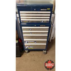 "Mastercraft 9 Drawer Rolling Tool Cabinet - Top & Bottom Box (54""H x 27""W x 18""D)"