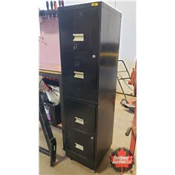 """Rolling File Cabinet - 4 Drawer (60""""H x 15""""W x 18""""D)"""