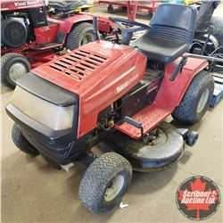 "Yard Machines Ride On 15hp Lawn Tractor w/42"" Mower Deck & 2 Stage 42"" Snow Blower"