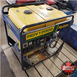 Salvaged Robin V-Twin Motor & Frame - Not Running