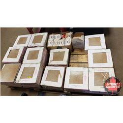 Pallet Lot: DURKER Ceramic Tile (1' x 1' Squares) Approx 18 Boxes (16 Per Box) (Note: a few visible