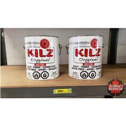 New/Old Stock Paint : KILZ Interior Oil Base Sealer Primer Stain Blocker - White (2 Gallons)