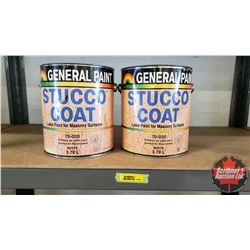 New/Old Stock Paint : General Paint Stucco Coat - White (2 Gallons)