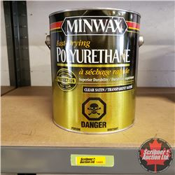 New/Old Stock Paint : Minwax Fast Drying Poly Urethane - Clear Satin (1 Gallon)