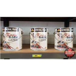 New/Old Stock Paint : General Paint Kitchen & Bath Latex Semi Gloss Accent Base (3 Gallons)