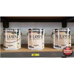 New/Old Stock Paint : General Paint Melamine Self Priming Cabinet Paint - Low Lustre White (3 Gallon
