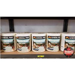 New/Old Stock Paint : General Paint Wood Craft Deck Stain - Solid Color Acrylic Latex (5 Gallons)