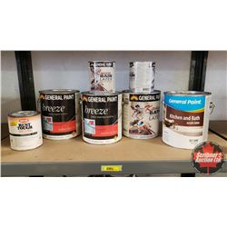 New/Old Stock Paint : Variety of Paint (See Picture for Details) (7 Cans - Variety Sizes)