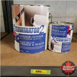 New/Old Stock Paint : X-Terminator2 Interior/Exterior All Purpose Acrylic Stain Killer Primer Sealer