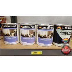 New/Old Stock Paint : General Paint Plastic Primer - White (4 Quarts)